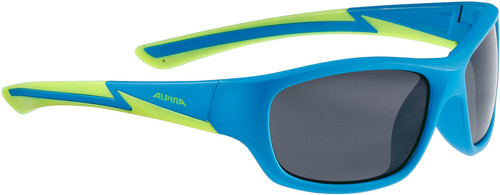 Alpina Flexxy Youth Glasses blue matt-lime 2018 Sonnenbrillen y89uV1